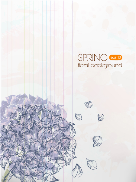 floral vector background illustration Vector Illustrations floral