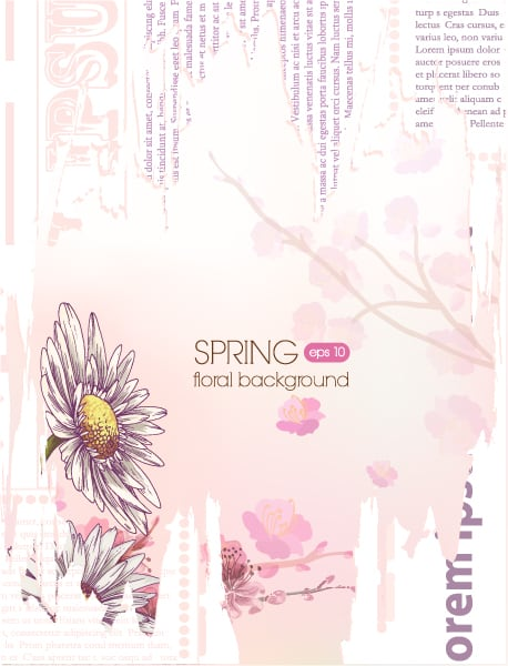 floral vector background illustration with torn paper 2015 01 01 533