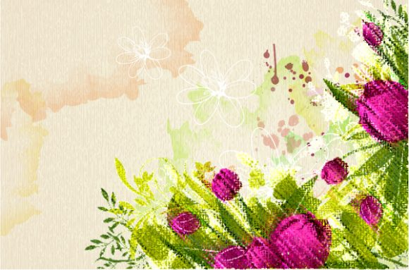 Amazing Colorful Vector Artwork: Colorful Floral Vector Artwork Illustration 2015 01 01 539