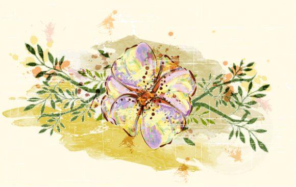 Floral-3 Vector Colorful Floral Vector Illustration 2015 01 01 541