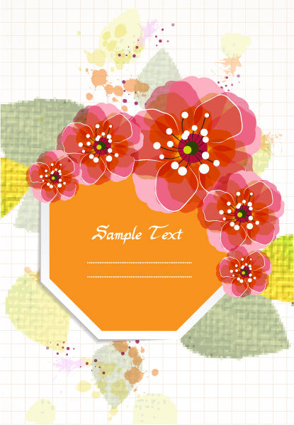 Dirt Vector Background Colorful Floral Vector Illustration 2015 01 01 542