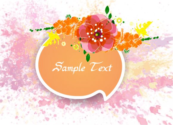 colorful floral vector illustration Vector Illustrations old
