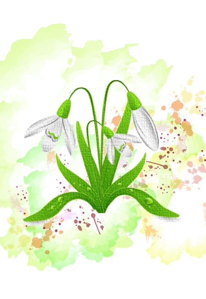 Awesome Flower Eps Vector: Colorful Floral Eps Vector Illustration 5