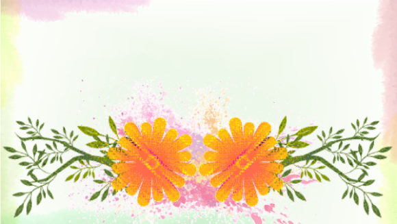 Stunning Floral Vector Background: Watercolor Floral Background Vector Background Illustration 5