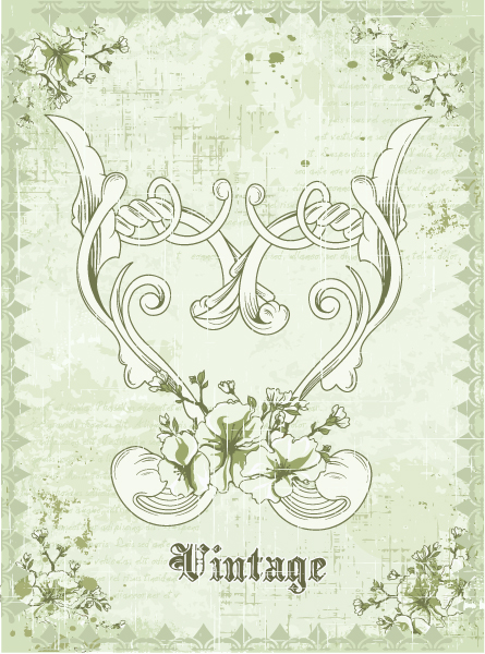 Buy Grunge Vector Illustration: Grunge Floral Background Vector Illustration Illustration 2015 01 01 571