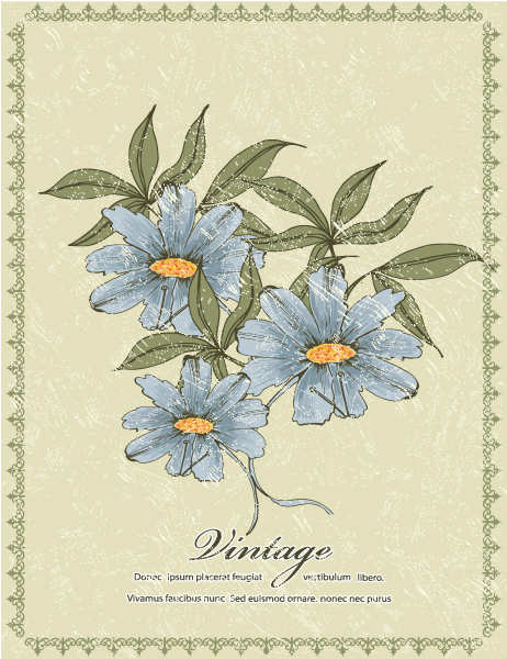 Floral Vector Illustration Grunge Floral Frame Vector Illustration 2015 01 01 575