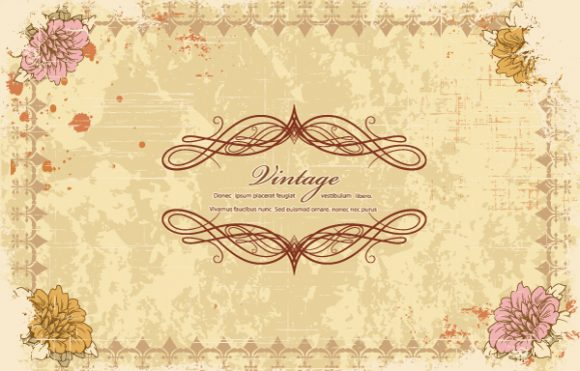 Grunge, Frame Vector Design Grunge Floral Frame Vector Illustration 2015 01 01 579