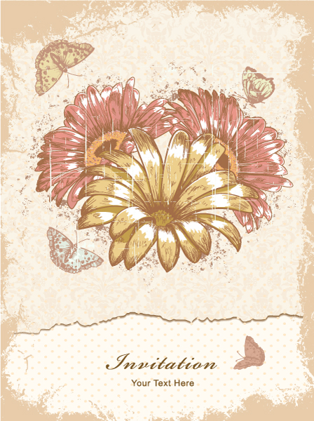 Illustration Vector Art: Grunge Floral Background Vector Art Illustration 2015 01 01 580