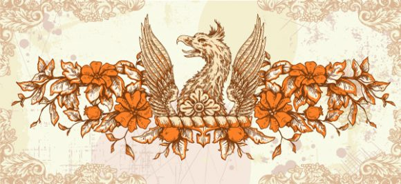 vector vintage background with griffin 2015 01 01 598