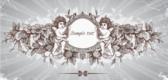Creative Vector Illustration Vector Grunge Floral Frame 2015 01 01 599