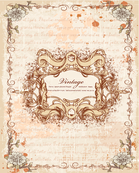 New Dirt Vector: Frame With Floral Vector Illustration 2015 01 01 631