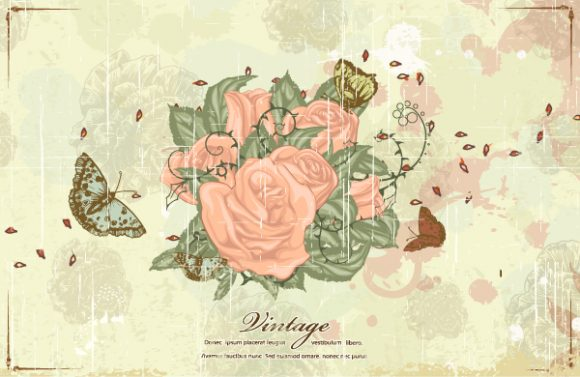 Butterfly Vector Background Butterflies  Floral Vector Illustration 5