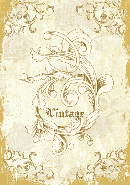 Illustration Vector Artwork: Grunge Floral Background Vector Artwork Illustration 2015 01 01 645
