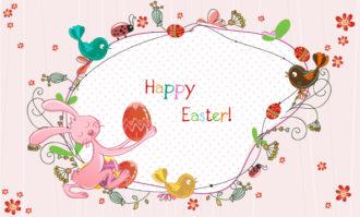 easter frame vector illustration Vector Illustrations floral