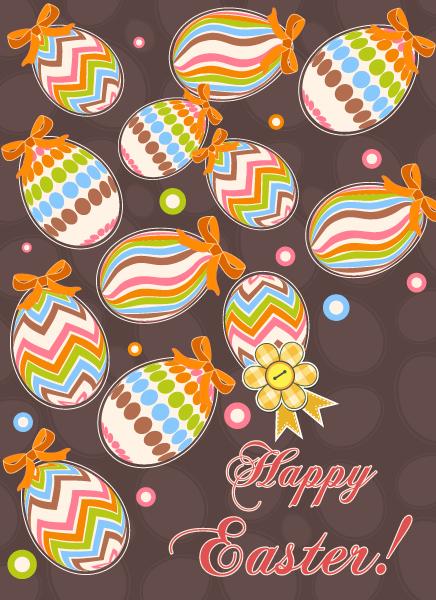 Season Vector Art Colorful Eggs Vector Illustration 2015 01 01 655