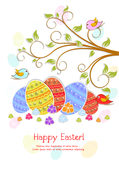 Special Illustration Vector Image: Easter Background Vector Image Illustration 3