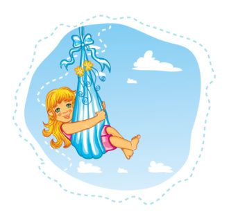 cute little girl vector illustration Vector Illustrations vector