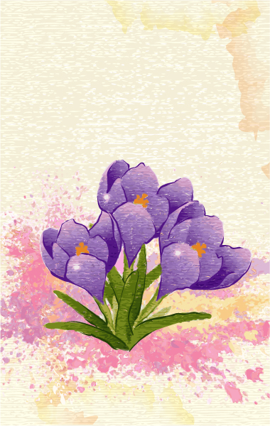 Lovely Watercolor Vector Graphic: Watercolor Floral Background Vector Graphic Illustration 2015 01 01 668
