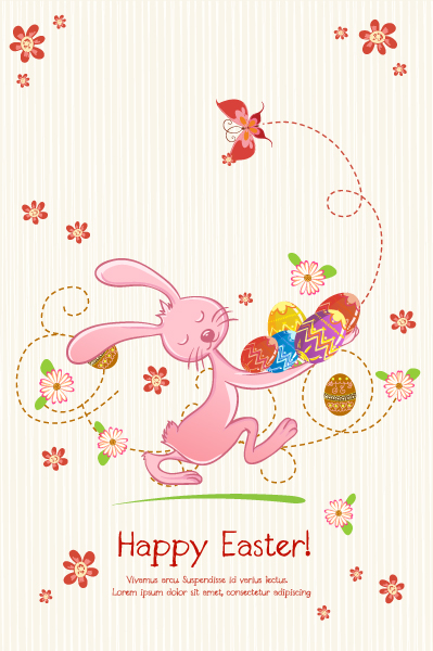 vector colorful background with bunny Vector Illustrations vector