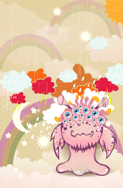 Star Vector Graphic Vector Funny Background  Monster 2015 01 01 689