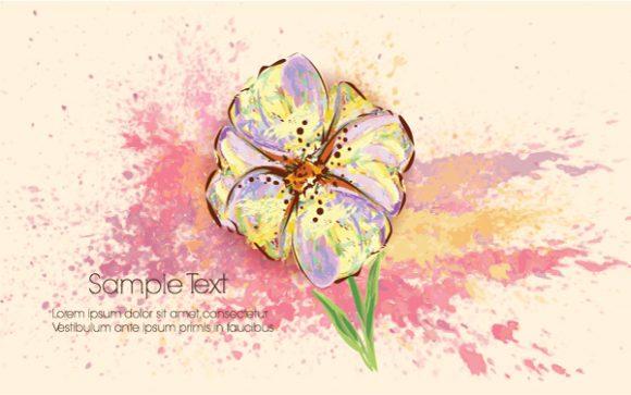 Colorful Vector Illustration Colorful Floral Background Vector Illustration 5