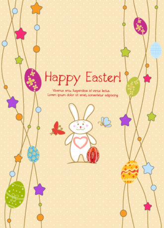 bunny with eggs vector illustration Vector Illustrations star