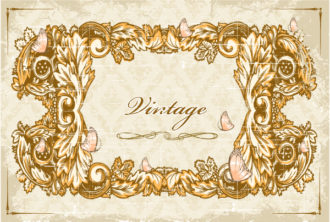 floral with grunge vector illustration Vector Illustrations old