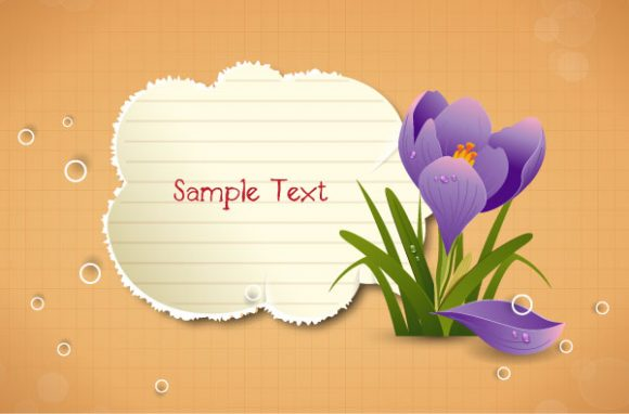 vector frame with floral Vector Illustrations floral