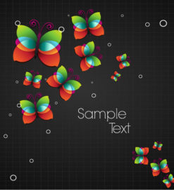 vector abstract background with buttlerflies Vector Illustrations vector