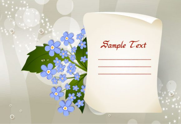 paper with floral vector illustration Vector Illustrations floral
