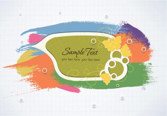colorful brush strokes vector illustration Vector Illustrations vector
