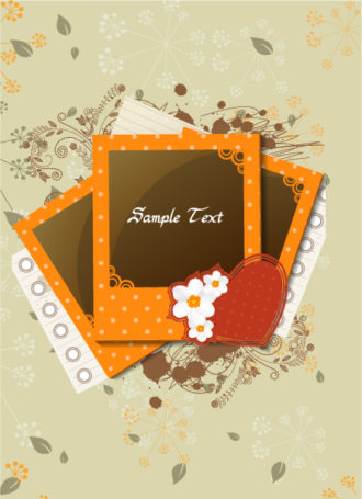 vector photo frames with grunge Vector Illustrations old