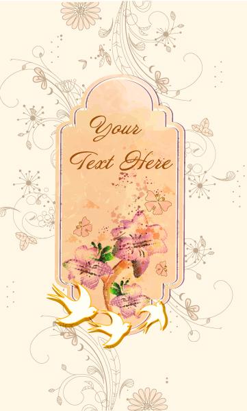 frame with grunge vector illustration Vector Illustrations floral