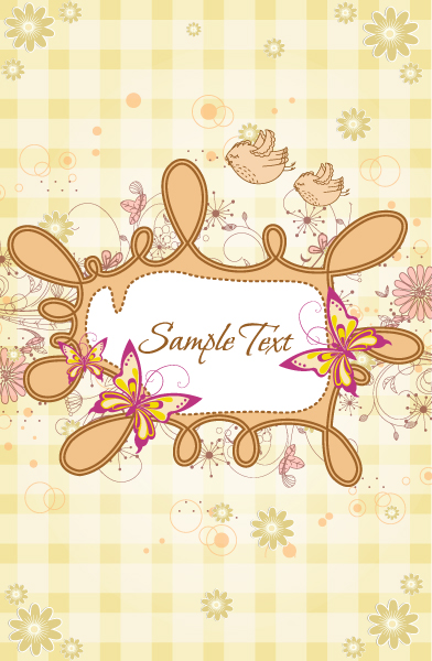 vector frame with butterflies Vector Illustrations old