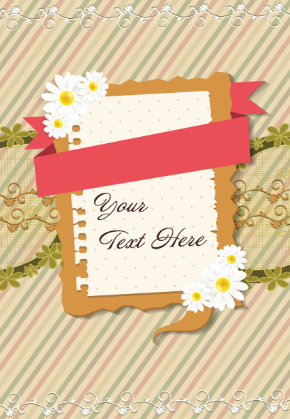 vector frame with flowers 5