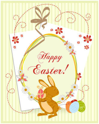 easter background with eggs vector illustration Vector Illustrations vector