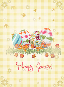 eggs with floral vector illustration Vector Illustrations floral