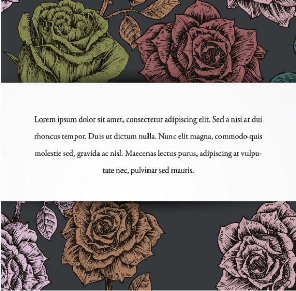 vintage floral background vector illustration 5