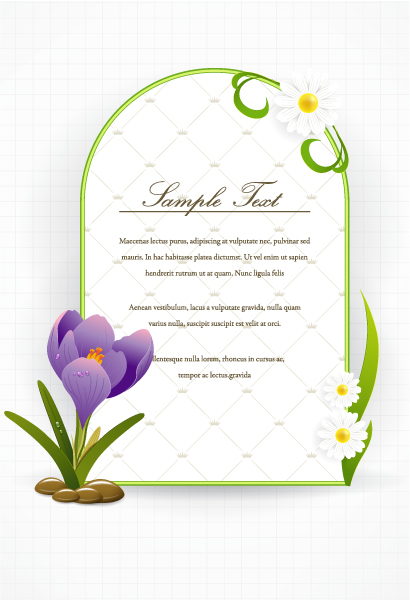 abstract frame vector illustration Vector Illustrations floral