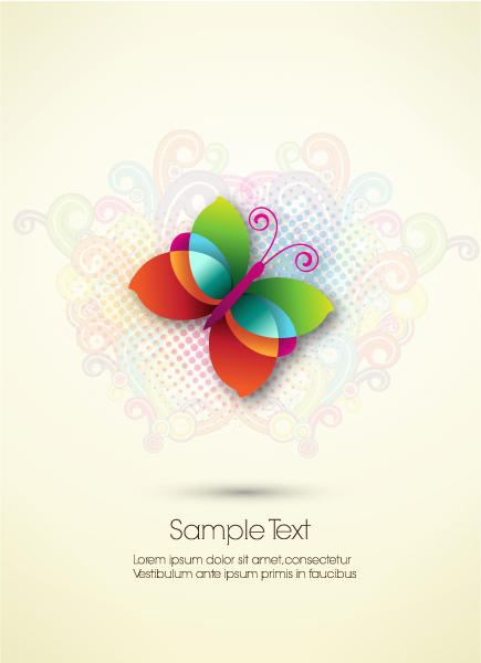 Exciting Illustration Vector Art: Abstract Butterfly Vector Art Illustration 5