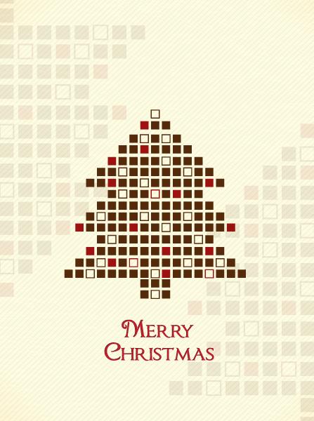 Holiday Vector Design Christmas Illustration  Christmas Tree 2015 02 02 009
