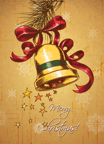 Christmas, Bells Vector Christmas Illustration  Bells 2015 02 02 013