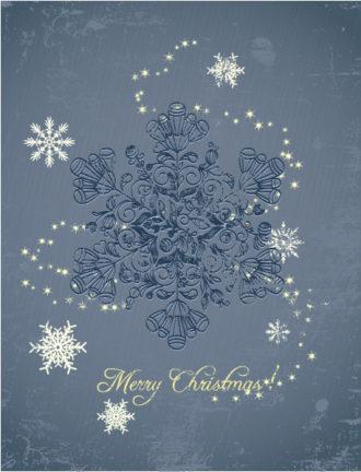 Christmas illustration with star Vector Illustrations tree
