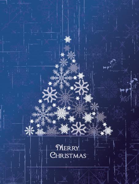 Christmas illustration with Christmas tree Vector Illustrations tree