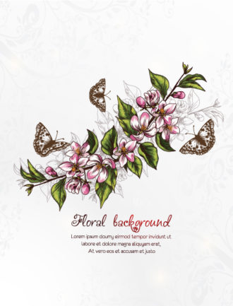floral vector background illustation Vector Illustrations old