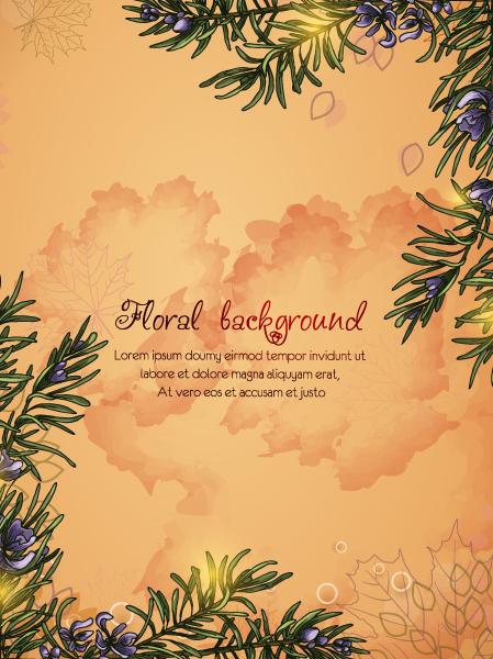 Lovely Floral Vector Image: Floral Vector Image Background Illustation 2015 02 02 039