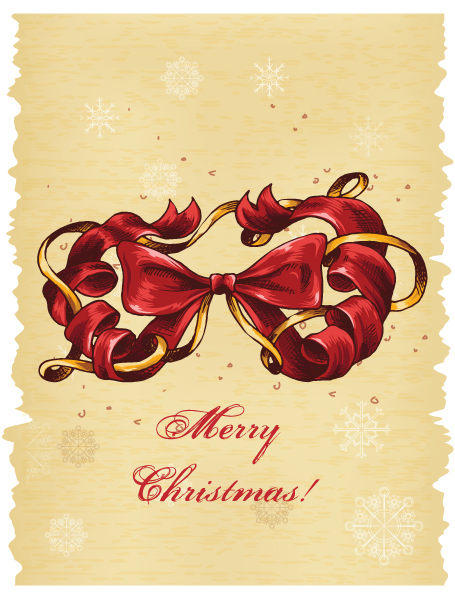 Gorgeous Christmas Vector Art: Christmas Illustration With Bow 2015 02 02 045