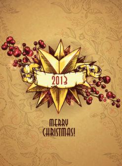 Christmas illustration with Christmas star Vector Illustrations star