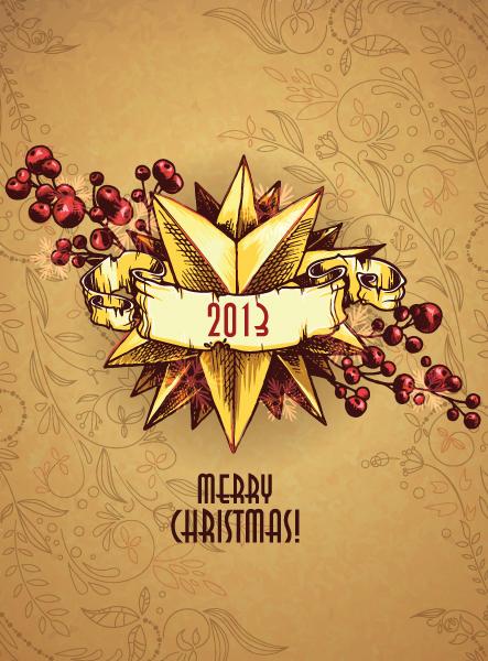 Illustration, Year, Christmas Vector Christmas Illustration  Christmas Star 3