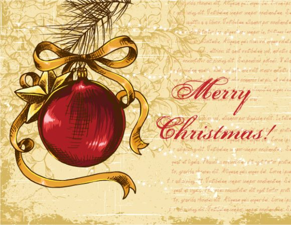 Season Vector Illustration Christmas Illustration  Mistletoe 3